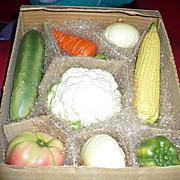 Ceramic Lifelike Vegetable Set by Enesco