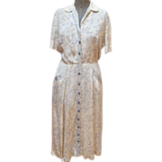 SALE 1940's Print Dress