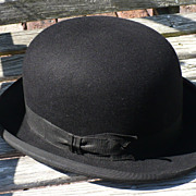 SALE Black Bowler Derby Hat
