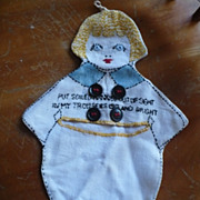 Hand Embroidered Little Boy Hankie Bag
