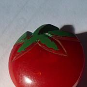 Bakelite Tomato Button