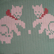 Hand Crochet Kitty Runner Rug
