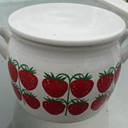 Arabia Covered Strawberry Jar