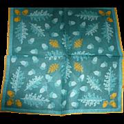 Faith Austin Leaf Acorn Handkerchief