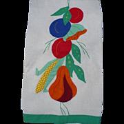 SOLD Applique Fruit Towel
