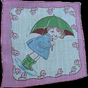 Child's Handkerchief Umbrella Girl
