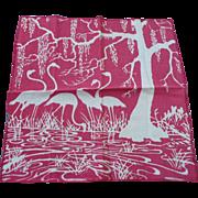 SOLD Flamingo Water Handkerchief