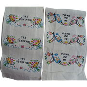 SOLD Embroidered Guest Towels