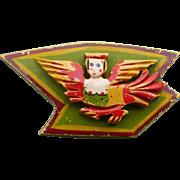 Winged Woman Bakelite Pin