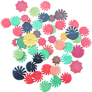 SALE Celluloid Buttons Group of 49
