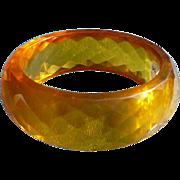 Facet Bakelite Yellow Bracelet