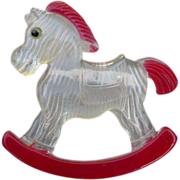 Rocking Horse Lucite Pin