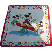 SOLD Mickey Mouse Seesaw Handkerchief