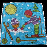 SOLD Depose Skiing Handkerchief