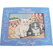 SOLD Embroidery Kit Cats