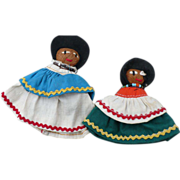 SALE Pair Seminole Dolls