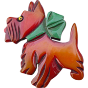 Bakelite Dog Pin