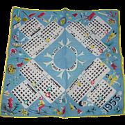 1953 Calender Handkerchief