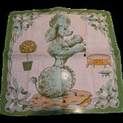 Green Poodle Handkerchief