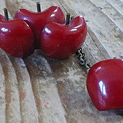 Bakelite Apple Pin