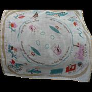 SOLD Bon Voyage Handkerchief
