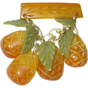 Bakelite Dangling Pineapple Pin