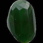 Bakelite Green Faceted Ring