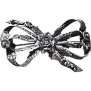 Hobe Sterling Bow Pin