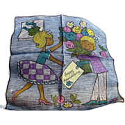 SOLD Anniversary Skandia Handkerchief