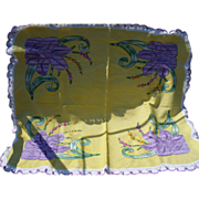 Hand Embroidered Huck Tablecloth