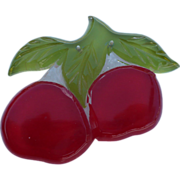 Lucite Fruit Pin