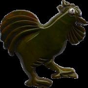 Bakelite Rooster Pin