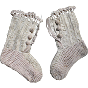 Victorian Hand Crochet Baby or Doll Booties