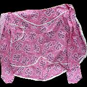 Pink Cotton Half Apron