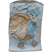 SOLD Embroidered Laundry Hankie Bag