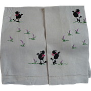 SOLD Poodle Embroidered Guest Towels