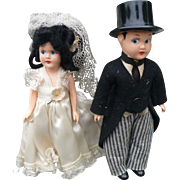 Celluloid Bride & Groom Dolls
