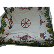 Cowboy  Western Tablecloth