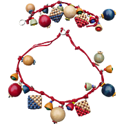 Czech Wood Necklace & Bracelet