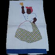 SOLD Applique Mammy Towel