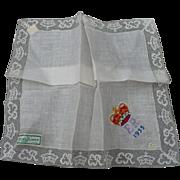 SOLD Queen Elizabeth 1953 Coronation Handkerchief