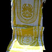 1960's Sculptured Towels Pair