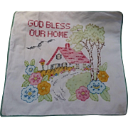 Embroidered Home Pillow Cover
