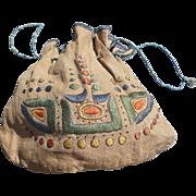 SOLD Arts Crafts Embroidered Bag