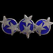 Magnussen Sterling Enamel Star Pin