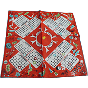 1953 Calendar Handkerchief