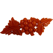 Bakelite Orange Grape Pin