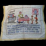 Embroidered Grandma Sampler