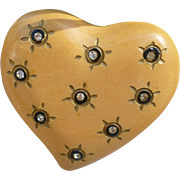 Bakelite Heart Pin