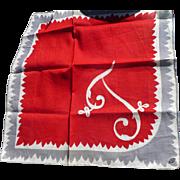 Initial  Handkerchief